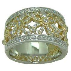 0.69 cttw. Diamond Ring in 14 Karat Gold https://www.goldinart.com/shop/diamond-bands/0-69-cttw-diamond-ring-in-14-karat-gold #DiamondRing