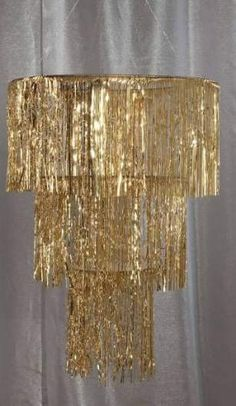 Roaring Twenties - Great Gatsby Party Ideas Gold Three Tier Chandelier More . Burlesque Party Decorations, Prom Decor, Diy Party Decorations, Decor Diy, Great Gatsby Decorations, Burlesque Theme Party, Great Gatsby Prom Theme, Gold Decorations, New Years Decorations