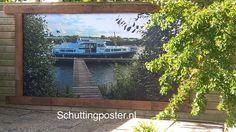 #grotetuinposter van eigen foto gemaakt. Alsof #mijnboot in mijn tuin is afgemeerd...