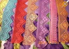 Filet Crochet Charts, Crochet Borders, Crochet Cross, Tunisian Crochet, Thread Crochet, Love Crochet, Vintage Crochet, Crochet Flowers, Crochet Lace