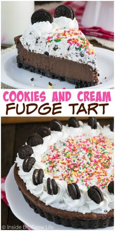 A creamy chocolate fudge center and a cookies and cream filling make this the chocolate dessert you need.: