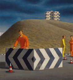 'Near Pisa' 1995  Jeffery Smart