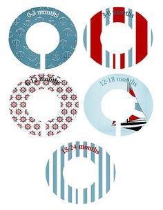 Nautical Clothing Dividers