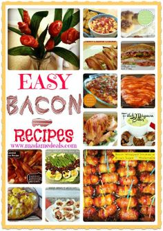 Easy Bacon Recipes #bacon #recipes