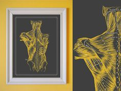 Different color for my room - Grays Anatomy Muscles of the Back Massage Room by OmNomsStudio, $25.00