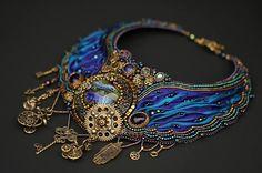 by Irina Rudneva (my comment: professional level w multi-techniques, shibori, beads, ect.)