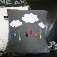 Rain-Bow-Cloud Customizable Cushion Cover. $35.00, via Etsy.
