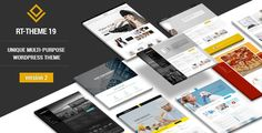 RT-Theme 19 - Responsive Multi-Purpose WP ThemeRT-Theme 19 is a responsive premium WordPress theme with powerful CMS tools. You can use it for business, corporate, product catalog, services or portfolio web sites. Template Wordpress, Tema Wordpress, Premium Wordpress Themes, Wordpress Plugins, Website Design Inspiration, Design Blog, Web Design, Theme Forest, Forest Themes