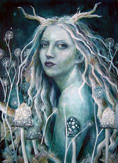 SciFi and Fantasy Art Dandelion Fields by Katrina Sesum