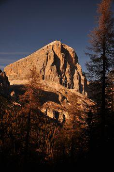 Tofana di Rozes al tramonto - Dolomites, province of Belluno, Veneto, Northern Italy