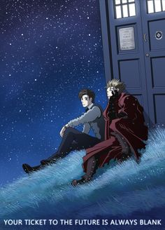 Doctor Who Trigun by nokeek.deviantart.com  I want to see this happen. These two universes could work so well together. Plus, who would get along better with the Doctor than Vash the Stampede?