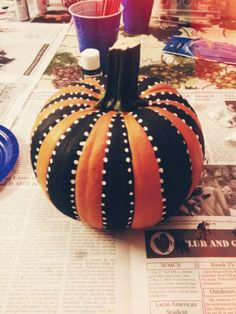 Painted pumpkin, Easy DIY Pumpkin Decorating Ideas