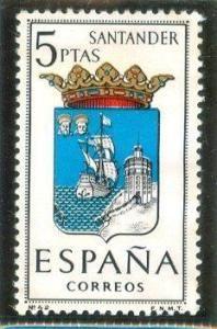 1965 España-Escudo de la Provincia de Santander