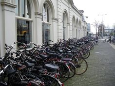 Bicycles at the Train Station, Leeuwarden, The Netherlands