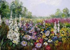 ŁĄKA na zamówienie, obraz olejny 60 X 40 kwiaty, pejzaż (16)