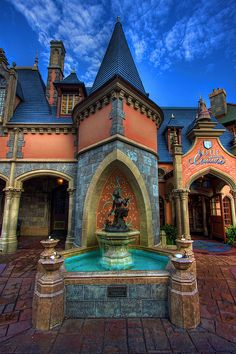 Cinderella fountain- Magic Kingdom, Lake Buena Vista, FL, USA