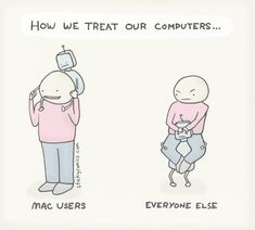 Mac vs the world comic from 2011 - still accurate? 🤖 #mac #webcomics Funny Me, Hilarious, Funny Stuff, Funny Things, Mac Vs Pc, Baby Mine, Weird Pictures, Funny Cartoons, Everyone Else