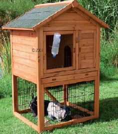 OUTDOOR 2 STORY RABBIT CAGE (3' x 4' X 5' HT.)