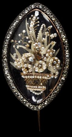 Gold, Silver, Rose Cut Diamonds, Seed Pearls, Mother-Of-Pear And Blue Enamel - France  c.1775-18