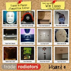 Trade Radiators - 'Faces In Places' Competition - Win £1000 in John Lewis vouchers!