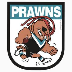 Buy 'AFL BBQ SeriesPort Adelaide Prawns' by justsnags as a T-Shirt, Sticker, Transparent Sticker, or Glossy Sticker Prawn, Bbq, Sticker, David, Football, Club, T Shirt, Fictional Characters, Barbecue
