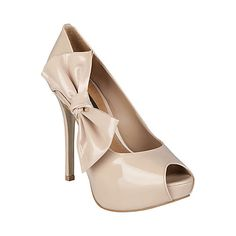 For the wedding  BOWDEREK FAWN PATENT women's dress high peep toe - Steve Madden