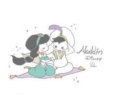 Disney Drawings, Cute Characters, Drawings, Cute Couple Art, Disney Jasmine, Cute Art, Disney Wallpaper, Kawaii Drawings, Cute Drawings