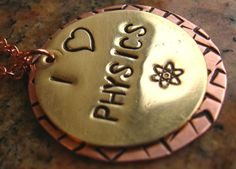 I love Physics Necklace with Atomic Symbol in by nikhajewelry