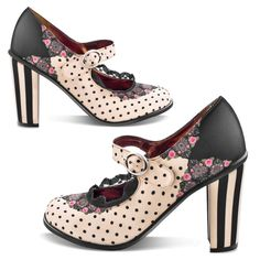 Hot Chocolate Design Chocolaticas Double Topping Doris Women Mary Jane Pump Multicoloured US Size: 10