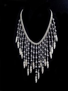 Haematite necklace for Winter 2013.