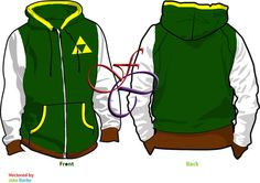 Legend of Zelda Link Hoodie by FilthyCommissions on Etsy