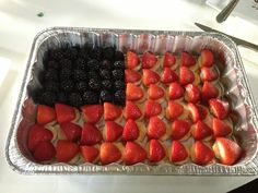 Fruit platter for Fourth of July! Served it with toothpicks and it was a huge hit at our dinner party!