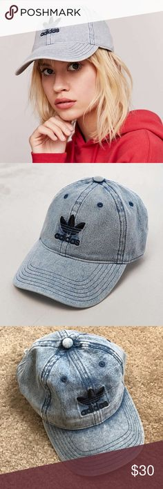 Adidas Relaxed Denim Baseball Hat Adidas Relaxed Denim Baseball Hat. NWOT. New Without Tags. No lowball offers or trades!  adidas Accessories Hats