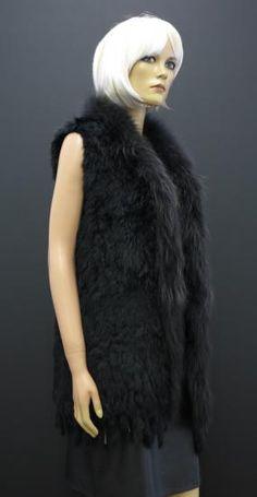 Dlouhá kožešinová vesta z králičiny Fur Coat, Jackets, Image, Fashion, Down Jackets, Moda, Fashion Styles, Jacket, Fasion