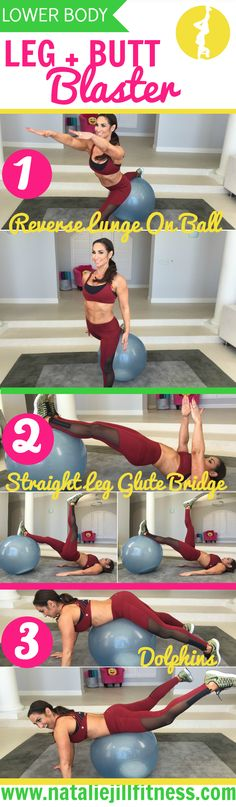 Leg and butt blaster workout! Super quick! Click to do it with me