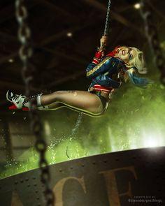 Character: Harley Quinn (Dr. Harleen Quinzel) / From: DC Comics & Warner Bros. Pictures 'Suicide Squad' / Cosplayer: Anastasiya Zelenova (aka Anastasya01) / Photo: Dmitriy Shitikov / Edit: stevedesignsthings