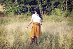 High Waisted Skirt Maternity Tutorial via lilblueboo.com