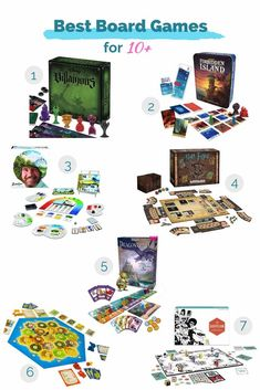 Best board game for ages 10  - games like Catan, Suspicion, Dragonrealm, and more. Family Game Night, Family Games, Fun Board Games, Unique Toys, Unique Products, Little Ones, Playroom, Bookends, Kids Room