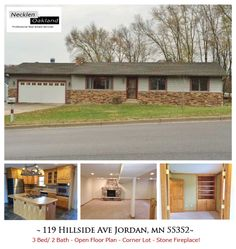 Just Listed in Jordan, MN! 3 Bed/ 2 Bath, Great starter home on a corner lot! Open floor plan, nice kitchen with stainless steel appl., office w/ French doors, walk-thru master bath, huge family room with stone fireplace.  For more info and photos visit: http://www.mndreams.com/listing/mlsid/152/propertyid/4542634/