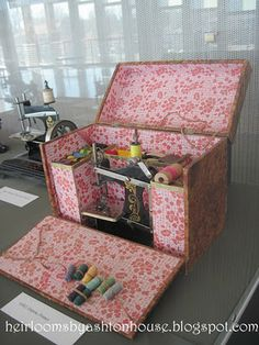 I had something like this when I was a little girl.  Mom helped me make dresses for my baby dolls.  I learned to sew on an old singer sewing machine.