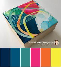 MOD Mini - Summer Bummer ink palette #color #palette #colorpalettes #janemonteith