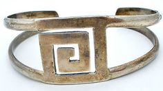 Vintage Sterling Silver Cuff Bracelet Mexican 925 1970