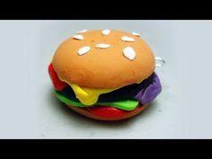 How to make polymer clay hamburgers / cheeseburgers - EP - YouTube