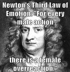 Newton's third law of emotion