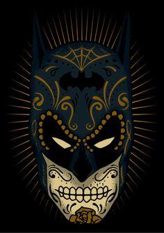 Batman Sugar Skull