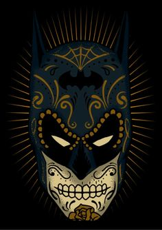 Batman Sugar Skull