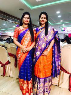 Pure silk sarees available in stock 🔥 for order with us 👇 WhatsApp no : 9553526146 Kuppadam Pattu Sarees, Half Saree Lehenga, Sari, Pochampally Sarees, Silk Lehenga, Ikkat Silk Sarees, Pure Silk Sarees, Organza Saree, Best Blouse Designs