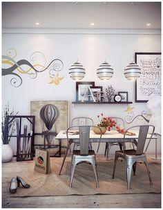 Dining Room Ideas:Combine Contemporary Dining Room Design With Retro Decor Formal Diningroom Decor