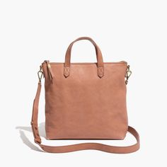 Madewell The Mini Transport Crossbody in Washed Leather