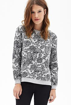 Heathered Paisley Sweatshirt | Forever21 - 2000102990